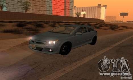 Opel Astra GTS pour GTA San Andreas vue de dessous