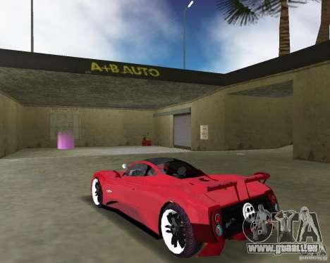 Pagani Zonda S für GTA Vice City zurück linke Ansicht