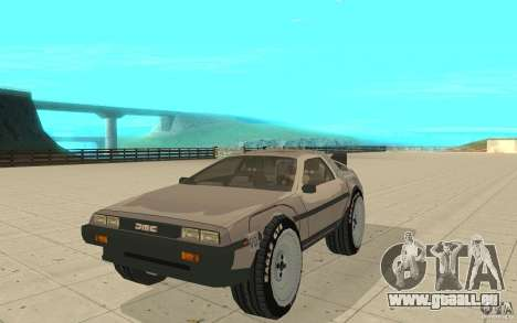 DeLorean DMC-12 (BTTF1) pour GTA San Andreas