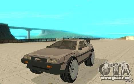 DeLorean DMC-12 (BTTF1) pour GTA San Andreas