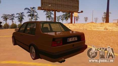 Volkswagen Jetta Mk2 pour GTA San Andreas sur la vue arrière gauche