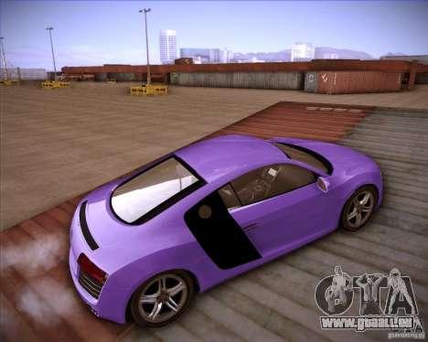 Audi R8 Shift für GTA San Andreas zurück linke Ansicht