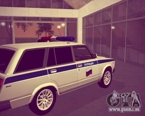 VAZ 21047 Police pour GTA San Andreas sur la vue arrière gauche