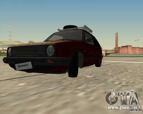 VW Golf II Shadow Crew pour GTA San Andreas sur la vue arrière gauche
