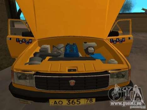 Taxi GAZ 31029 pour GTA San Andreas vue arrière
