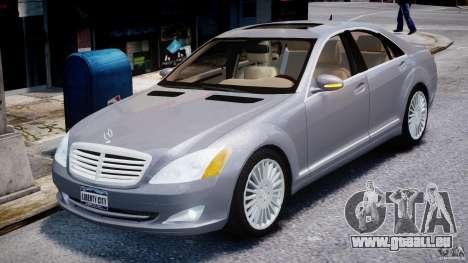Mercedes-Benz S-Class 2007 pour GTA 4 est une vue de l'intérieur