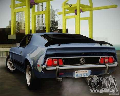 Ford Mustang Mach1 1973 für GTA San Andreas rechten Ansicht
