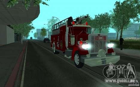 Peterbilt 379 Fire Truck ver.1.0 pour GTA San Andreas sur la vue arrière gauche