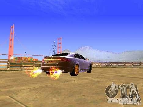 Jaguar XFR 2011 für GTA San Andreas Rückansicht