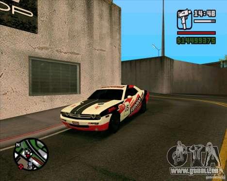 Dodge Challenger pour GTA San Andreas vue de droite