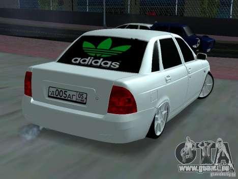 Lada Priora Adidas pour GTA San Andreas vue de côté