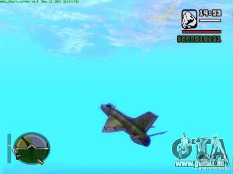 MIG 21 neuf pour GTA San Andreas vue de droite