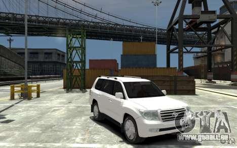 Toyota Land Cruiser 200 pour GTA 4 Vue arrière