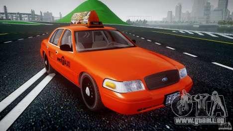 Ford Crown Victoria 2003 v.2 Taxi pour GTA 4 Vue arrière