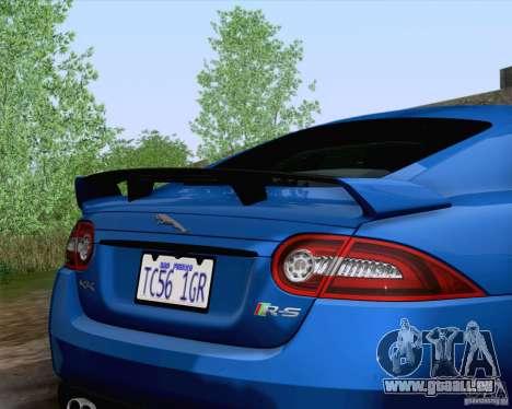 Jaguar XKR-S 2012 pour GTA San Andreas vue arrière