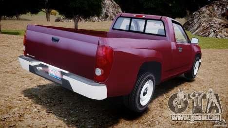 Chevrolet Colorado 2005 pour GTA 4 Vue arrière de la gauche