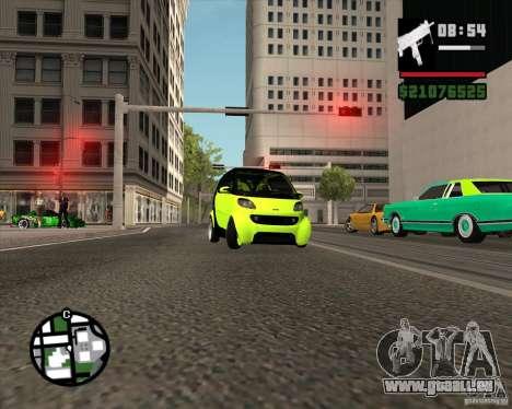 Smart Alienware pour GTA San Andreas vue intérieure