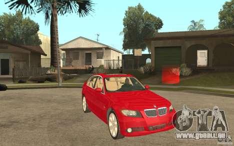 BMW 330i E90 v.2.0 für GTA San Andreas Rückansicht