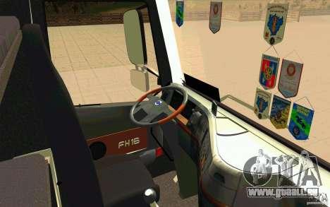 Volvo FH16 Globetrotter GAZEAU für GTA San Andreas rechten Ansicht