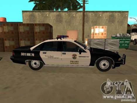 Chevrolet Caprice Police pour GTA San Andreas sur la vue arrière gauche