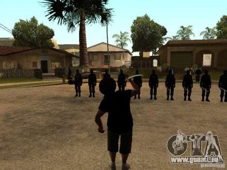 La lutte avec les katanas sur Grove Street pour GTA San Andreas