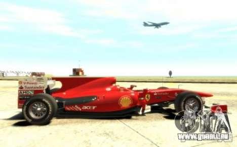 2010 Scuderia Ferrari F10 pour GTA 4 Vue arrière