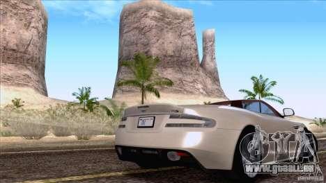 Aston Martin DBS Volante 2009 für GTA San Andreas rechten Ansicht