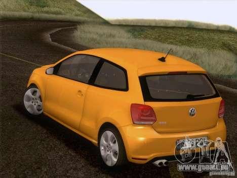 Volkswagen Polo GTI 2011 für GTA San Andreas Unteransicht