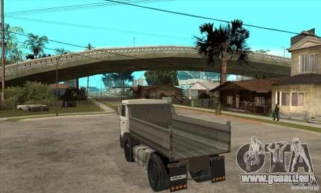 5551 MAZ LKW für GTA San Andreas zurück linke Ansicht