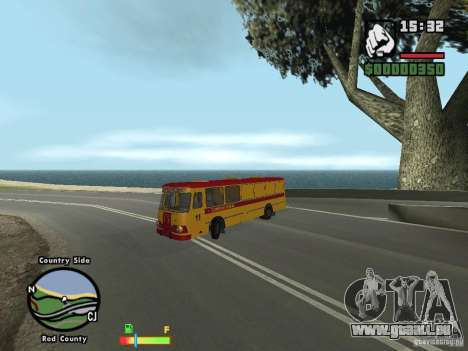 LIAZ 677 HBI technische Hilfe für GTA San Andreas linke Ansicht
