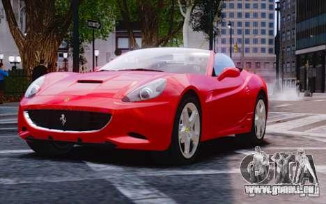 Ferrari California pour GTA 4 Vue arrière de la gauche