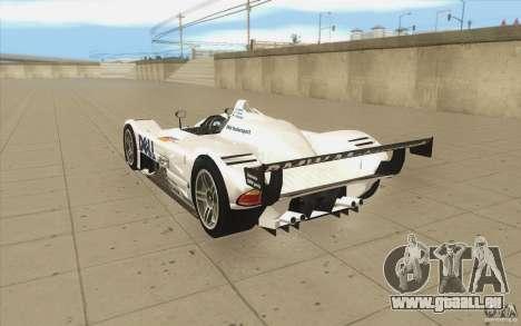 BMW V12 LeMans - Stock pour GTA San Andreas sur la vue arrière gauche