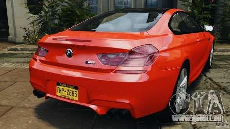 BMW M6 F13 2013 v1.0 pour GTA 4 Vue arrière de la gauche