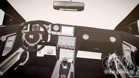 Nissan GT-R R35 2010 für GTA 4 obere Ansicht