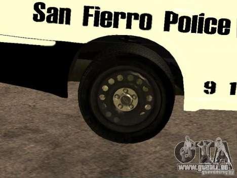 Chevrolet Impala Police 2003 pour GTA San Andreas vue de côté