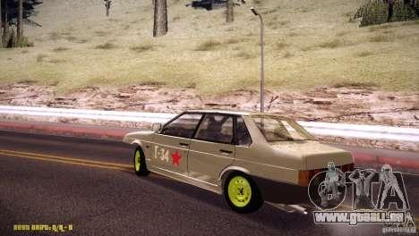 VAZ 21099 Hobo pour GTA San Andreas laissé vue