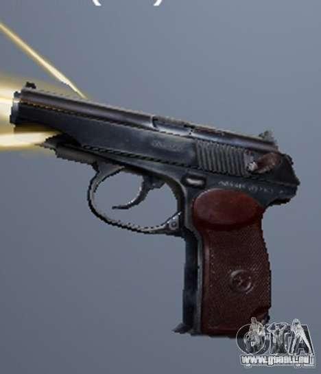 Eine Reihe von Waffen aus einem stalker für GTA San Andreas achten Screenshot