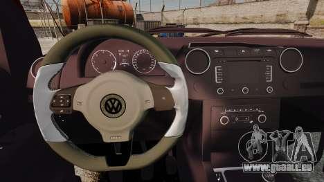 Volkswagen Amarok 2.0 TDi AWD Trendline 2012 pour GTA 4 est une vue de l'intérieur
