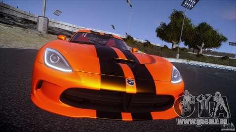 Dodge Viper GTS 2013 v1.0 für GTA 4 Rückansicht
