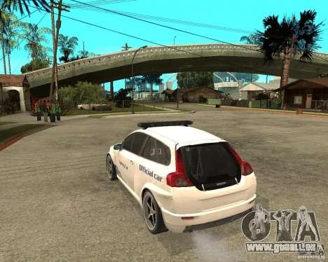 VOLVO C30 SAFETY CAR STCC v2.0 pour GTA San Andreas laissé vue