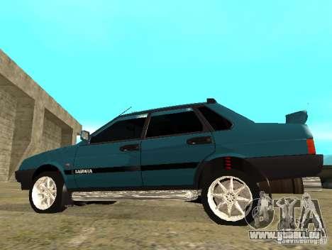 Mélodie sparco 21099 VAZ pour GTA San Andreas laissé vue