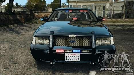 Ford Crown Victoria Police Unit [ELS] für GTA 4 Unteransicht