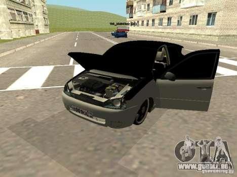 Lada Kalina pour GTA San Andreas sur la vue arrière gauche
