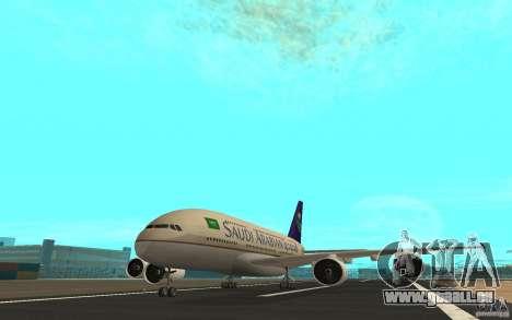 Airbus A380 - 800 pour GTA San Andreas laissé vue