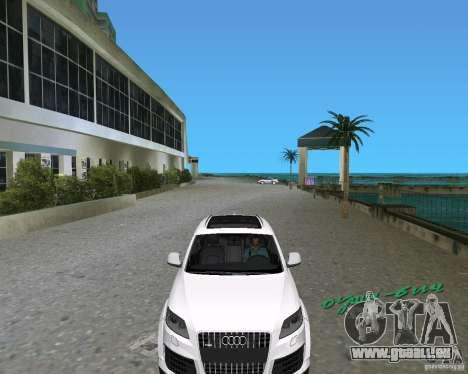Audi Q7 v12 pour GTA Vice City sur la vue arrière gauche