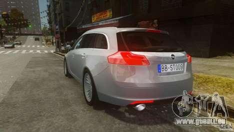 Opel Insignia Sports Tourer 2009 pour GTA 4 Vue arrière de la gauche