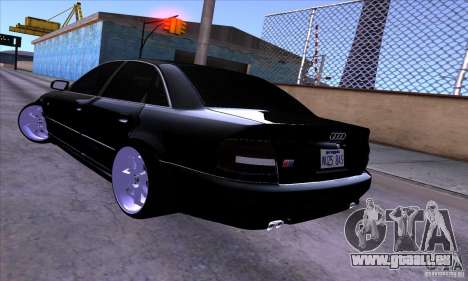 Audi S4 Light Tuning für GTA San Andreas obere Ansicht