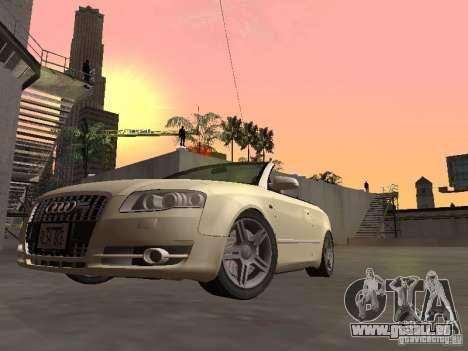 Audi A4 Convertible v2 für GTA San Andreas zurück linke Ansicht