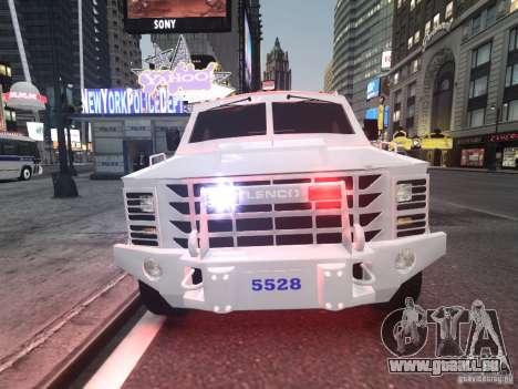 Lenco Bearcat NYPD ESU V.2 pour GTA 4 est une gauche