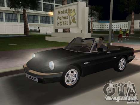 Alfa Romeo Spider 1986 für GTA Vice City linke Ansicht